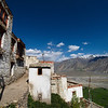 The narrow lanes through Karsha Gompa