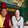 Socializing  inside Lamaruyu Monastery