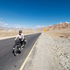 The last 50km of our ride, rolling downhill into Leh along NH1