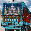 Typical brightly painted Indian truck