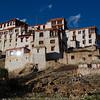 Sun shining on Likir Monastery