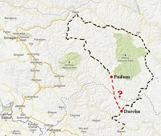 Our plan: Manali to Leh via Zanskar then back on the Leh-Manali highway