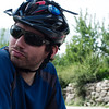 Yann taking a water break on one of our many days of cycling around Manali