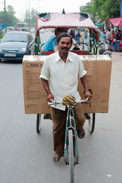 Getting our bicycles to the Delhi bus station