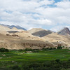 A view of the green valley from the village of Bohd Karbu