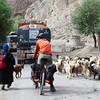 Yann in the morning traffic of Bohd Karbu