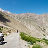 Emilie and Jochen enjoying the descent to Padum from Mune Gompa (on a paved road!)