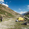 Our campsite at Palamo, about 9km from Darcha