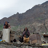 Local women building a house in Parkachik