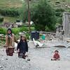 Children roaming around Parkachik