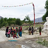 Road block to collect funds for the village