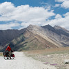 Yann and Jochen riding towards Rangdum Monastery