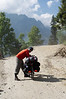 Up Rohtang Pass with Emilie's paniers