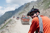 Traffic on Rohtang Pass