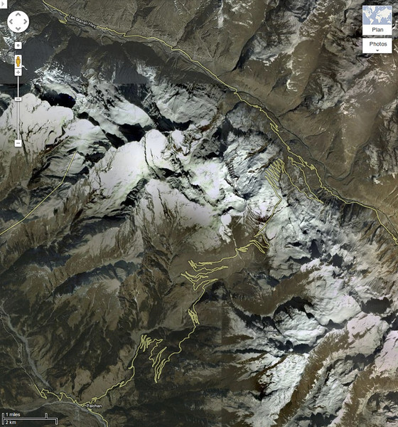 Rohtang Pass by Google maps