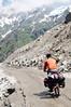 Cycling up Rohtang Pass