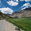 Riding through beautiful Suru Valley