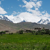 Suru Valley village backed by the Great Himalayan Range