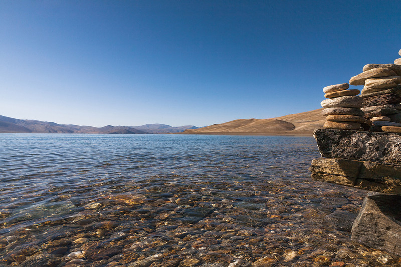 Tso Moriri, a mountain lake in Ladakh, India