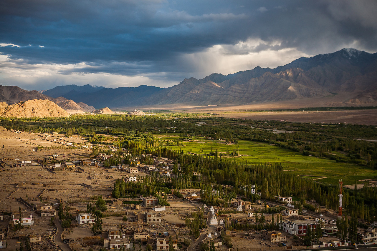 Aerial View from Thiksey Monastery, Leh, Ladakh, India