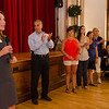 Lt. Gov. Karyn Polito and Mayor Dean Mazzarella thank State Police wives during Ladies Night Out in Leominster on Thursday evening. SENTINEL & ENTERPRISE / Ashley Green
