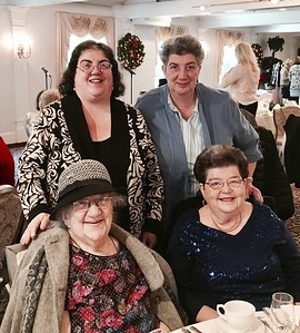 Standing, Clara and Freda Gkolias of Tewksbury, seated, Mary Trearchis of Tyngsboro and Joan Union of Stoneham
