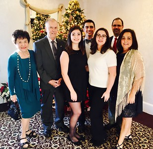 From left, Christine and Harry Stamas, Olivia, Zachary, Stephanie, Marc and Chairwoman Sandra Gulezian, all of Tyngsboro