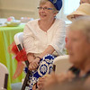 Marilyn Burrow is wearing a hat her mother wore in the 1960s at the Ladies' Tea Party Saturday at the Effingham County Museum.<br /> Cathy Griffith photo