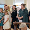 Young girls and teens modeled fashions from the 1940s, 1950s, 1960s and 1970s during the Ladies' Tea Party at the Effingham County Museum. Shown are some of the models, Kiara Hemrich, Maelie Sweeney, Sophia Martin, Grace Martin, Cailin Gilpin, Sidney Donaldson, Carly Spraul, Hannah DiBenedetto, Katie Rogers, Leah Griffith, Cailey Dasenbrock.<br /> Cathy Griffith photo