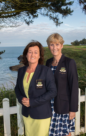 Lady Captain Grace with her Lady Vice-Captain Tina