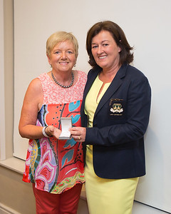 Ann Hughes a prize winner with Lady Captain Grace