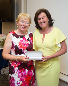 Mairead Murray a prize winner with Lady Captain Grace