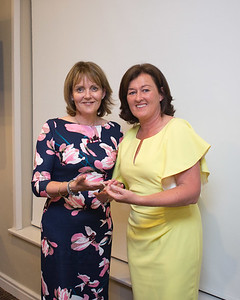 Martina Kelly being presented with 2nd Prize by Lady Captain Grace