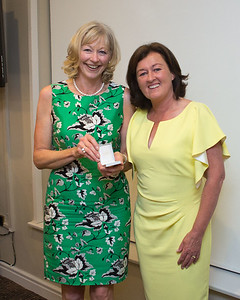 Adeline Delahunt a prize winner with Lady Captain Grace