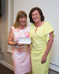 Georgina O'Brien a prize winner with Lady Captain Grace