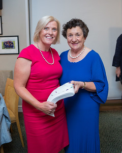 Sandra Dunne,  Runner-Up  in the Lady Captain's Prize receives her prize from Lady Captain Miriam
