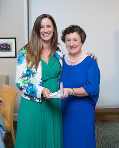 Ciara Heffernan, Winner (Division 2) in the Lady Captain's Prize receives her prize from Lady Captain Miriam