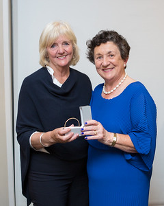 Miriam Liston, Winner  of Lady Captain's Prize 2019 receives her prize from Lady Captain Miriam