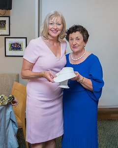 Adaline Delahunt, 4th Place prize winner in the Lady Captain's Prize receives her prize from Lady Captain Miriam