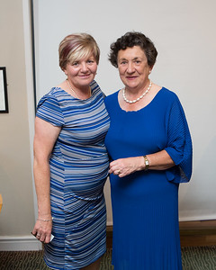 Oonagh McDermott, Winner (Visitors Prize)  in the Lady Captain's Prize receives her prize from Lady Captain Miriam