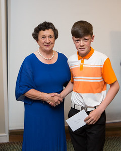 Stephen Gormley, Runner-Up (Men's 9-Hole) in the Lady Captain's Prize receives his prize from Lady Captain Miriam
