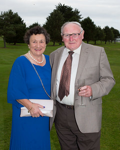 Lady Captain Miriam McGrath with husband Tom