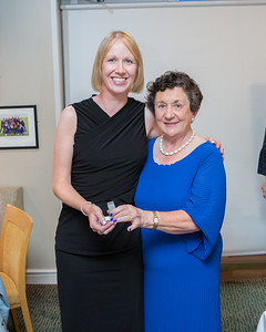Gilli Reilly, Runner-Up (Division 1) in the Lady Captain's Prize receives her prize from Lady Captain Miriam