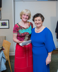 Bernie Griffiths, Past Captains prize winner  in the Lady Captain's Prize receives her prize from Lady Captain Miriam