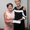 Patricia Slattery (4th Place) receiving her prize from Tina