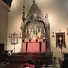 High Altar ready for Laetare Sunday High Mass, 26 March 2017