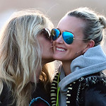 Laeticia Hallyday Have Fun with Friends