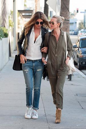 Laeticia Hallyday,Caroline de Maigret spotted in Venice.