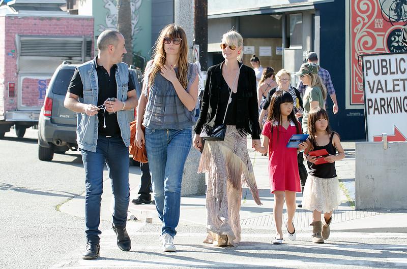 Laeticia,Jade,Joy,Caroline de Maigret seen in Venice