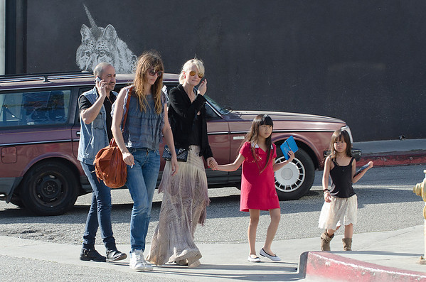 Laeticia,Jade,Joy,Caroline de Maigret seen in Venice